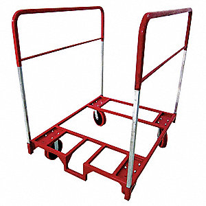 Table Mover, 1600 lb. Load Capacity, (2) Fixed and (2) Swivel With Brake Caster Wheel Type