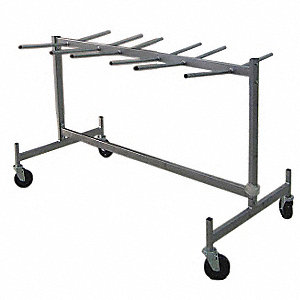 "63""L x 31-5/8""W x 41-3/4""H Gray Folding Chair Storage Truck, 400 lb. Load Capacity"