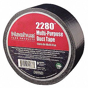 "Industrial Duct Tape, 1-7/8"" X 60 yd., 9.00 mil Thick, Black Coated Cloth, 1 EA"