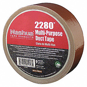 "Industrial Duct Tape, 1-7/8"" X 60 yd., 9.00 mil Thick, Brown Coated Cloth, 1 EA"