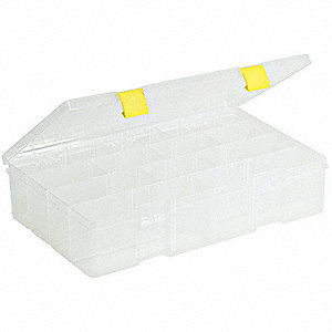 Compartment Box,4 to 15 Compartmnt,Clear