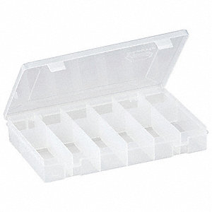 Compartment Box,12 Compartments,Clear