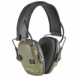 22dB Ear Muffs, Khaki&#x3b; ANSI S3.19-1974, Berry Compliant