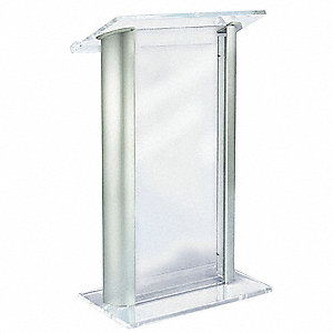 Lectern, Clear Acrylic, 47x27x16 In