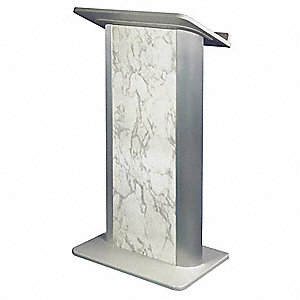 Lectern,Marble,48-3/4x27x17-1/2 In