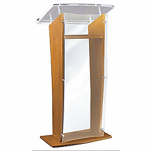 Lectern,Medium Oak,47x27x16 In