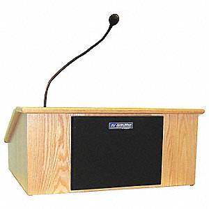 Lectern w/Sound,Map,27x23-1/2x11-1/2 In