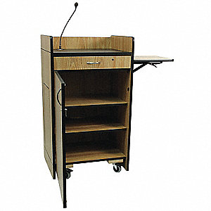 Lectern w/Sound,Med Oak