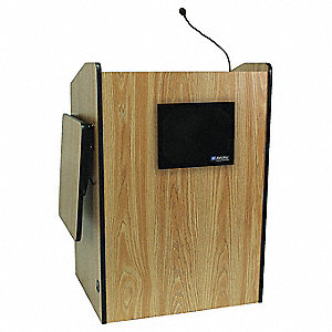 Lectern w/Sound,MOak,50x44-1/2x37-3/4 In