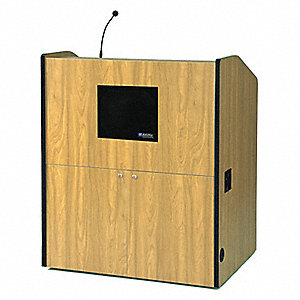 Lectern w/Sound,Maple,48-1/2x41x30 In