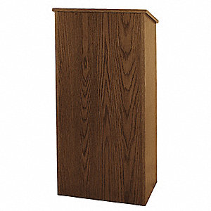 Lectern,Walnut,46-1/2x26x16 In