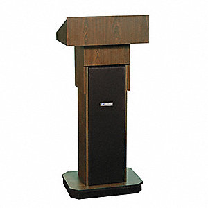 Lectern, Walnut, 46-1/2x22x15 In