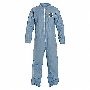 ProShield® 6 SFR, Secondary FR Coveralls, Size: L, Color Family: Blues, Closure Type: Zipper