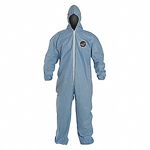 ProShield® 6 SFR, Secondary FR Coveralls, Size: 2XL, Color Family: Blues, Closure Type: Zipper