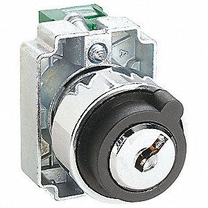 Non-Illuminated Selector Switch, Size: 22mm, Position: 2, Action: Maintained / Momentary