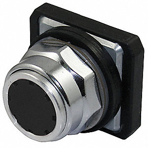 Metal Push Button Operator, Type of Operator: Flush Button, Size: 30mm, Action: Momentary Push