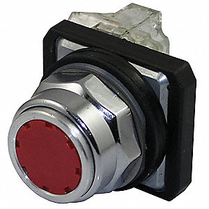 Non-Illuminated Push Button, Type of Operator: Flush Button, Size: 30mm, Action: Momentary Push