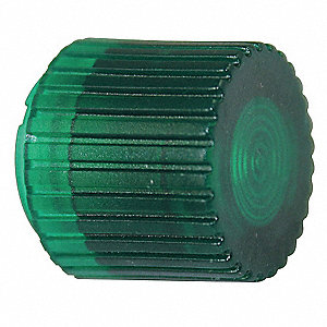 30mm Plastic Push Button Cap, Illuminated, Green