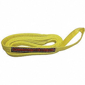 19 ft. Heavy-Duty Nylon Twisted Eye and Eye Web Sling with 6100 lb. Vertical Hitch Capacity, Yellow