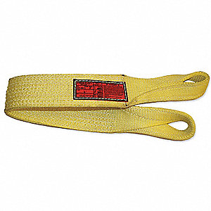 9 ft. Heavy-Duty Nylon Twisted Eye and Eye Web Sling with 55,000 lb. Vertical Hitch Capacity, Yellow