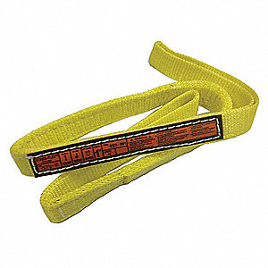 "7 ft. Flat Eye and Eye - Type 3 Web Sling, Nylon, Number of Plies: 1, 1"" W"