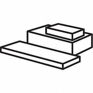 Rectangular Stock,1 ft. L,2 In. W,PTFE
