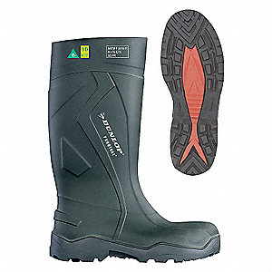 KNEE BOOT,STEEL TOE,INDL,GREEN,12