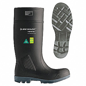 KNEEBOOT,STEEL TOE,INDL,CHARCOAL,13