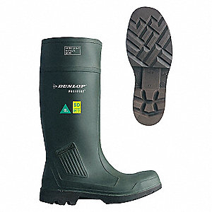 KNEE BOOT,STEEL TOE,INDL,GREEN,15