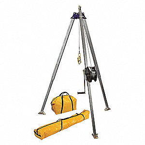 "Confined Space System, 72"" to 84"" Height Range, 25"" to 32"" Base Radius Range, 310 lb. Max. Working L"