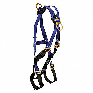 Full Body Harness,XL/2XL,425 lb,Blu/Blk