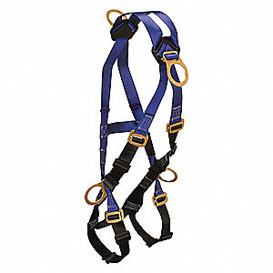 Full Body Harness, Harness Size: Universal, Weight Capacity: 425 lb., Blue/Black