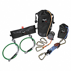 Escape and Rescue Kit,Orange,310 lb.