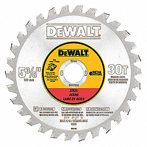 "5-3/8"" Carbide Metal Cutting Circular Saw Blade, Number of Teeth: 30"