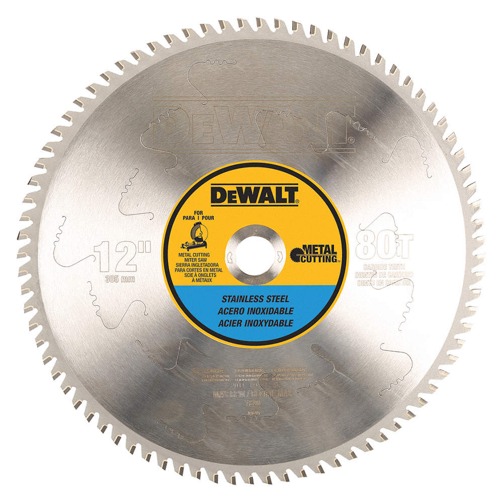 Dewalt 12 carbide stainless steel cutting circular saw blade zoom outreset put photo at full zoom then double click greentooth Gallery