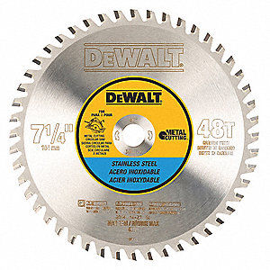 "7-1/4"" Carbide Stainless Steel Cutting Circular Saw Blade, Number of Teeth: 48"