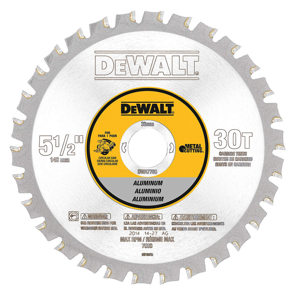 Dewalt circular saw bladealuminum5 12in 30hj79dwa7760 grainger zoom outreset put photo at full zoom then double click greentooth Gallery