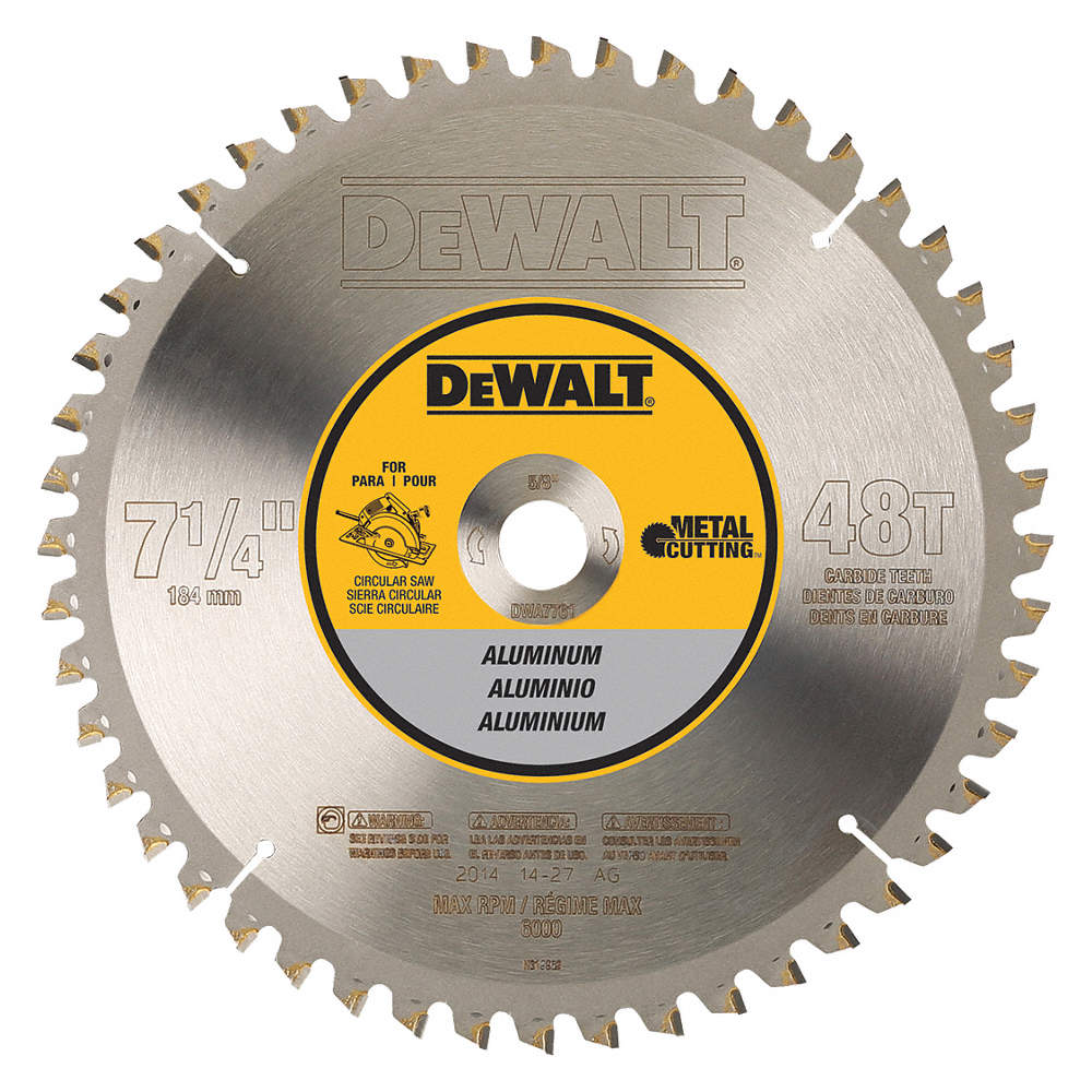 Dewalt 7 14 carbide aluminum cutting circular saw blade number of zoom outreset put photo at full zoom then double click greentooth Image collections
