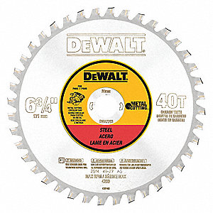 "6-3/4"" Carbide Metal Cutting Circular Saw Blade, Number of Teeth: 40"