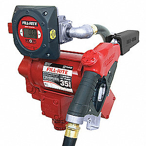 3/4 HP Cast Iron Rotary Vane Ultra High Flow Automatic Fuel Transfer Pump, 35 GPM, 115VAC and 230VAC