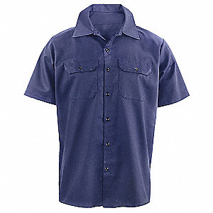 SHIRT SHORT SLEEVE NAVY BLUE XL
