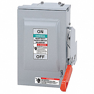 Nonfusible 600VAC/DC Solar Safety Disconnect Switch, Positive, Aluminum Alloy, 30 Amps