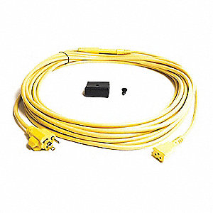 Power Cord W/ Strain Relief 50Ft Yellow