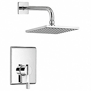 "Metal Wall Mounted Shower Head Kit, 2.50 gpm, 1/2"" NPT Connection Type, 7-13/16"" Face Dia."
