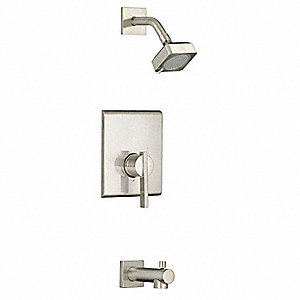 Metal Wall Mounted Shower Head Kit, 2.00 gpm NPT Connection Type