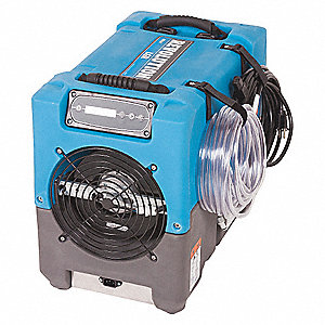 "Compact Portable Dehumidifier, 115V, 6.2 Amps, Depth 21-1/2"", Width 12-1/2"", Height 17-1/2"""