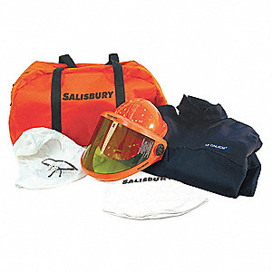 12.0 cal./cm2 Arc Flash Protection Clothing Kit, 2-HRC, Navy Blue, L