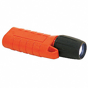 LED Mini Flashlight, Plastic, Maximum Lumens Output: 35, Orange, 3.19""
