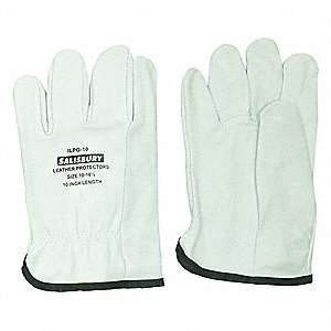 "Electrical Glove Protector, Cream, Import Goatskin, 10"" Length"