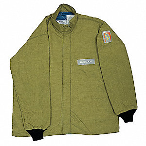 Arc Flash Jacket,32 In. L,HRC4,Green,L